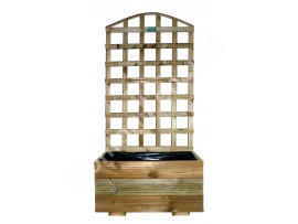Deep Planter With Trellis